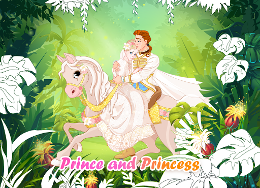 Princess Coloring Book: Special Color by Number screenshots 1