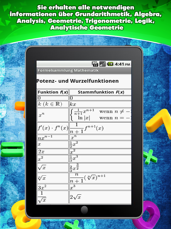 Formelsammlung Mathematik- screenshot