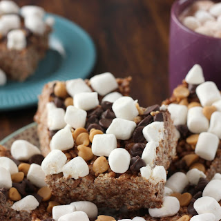 Peanut Butter Hot Chocolate Rice Crispy Treats