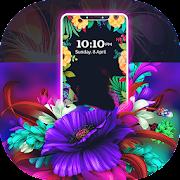 Neon Flowers Borderlight Live Wallpaper