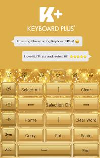 Golden Bling Keyboard - náhled