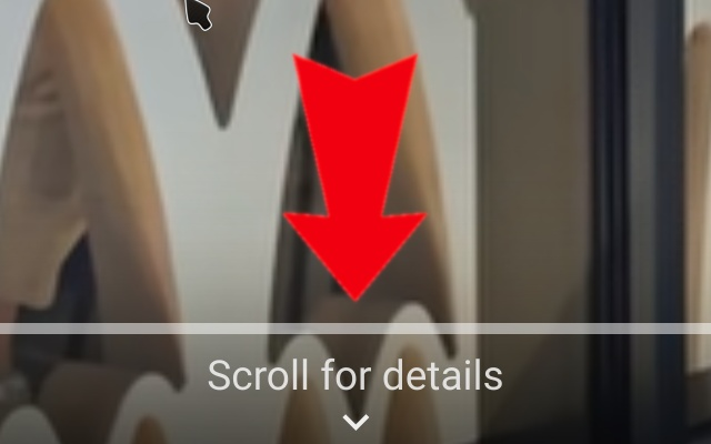 YouTube No Scroll For Details