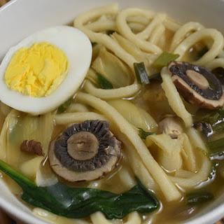 Mushroom & Artichoke Udon Soup Recipe For Two.