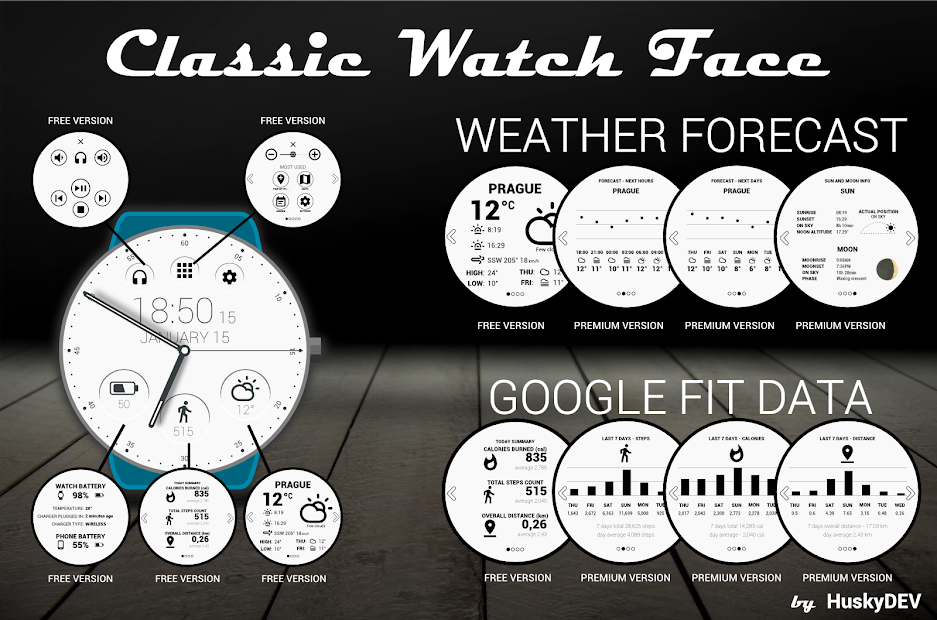 Classic Watch Face Android App Screenshot