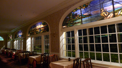 Photo: The famous stained glass windows in the solarium in the King and Prince Resort.