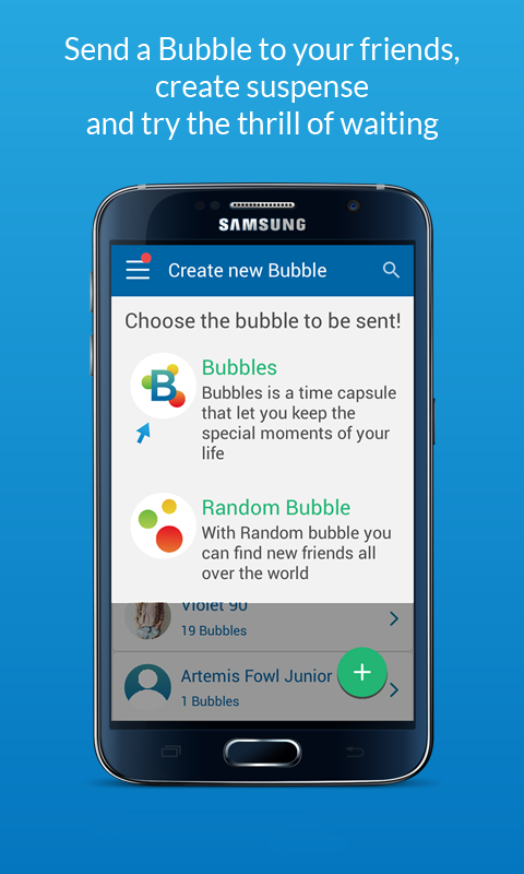 Bubbles - Messages in time- screenshot