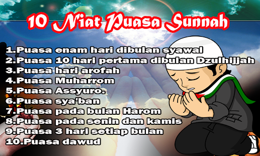 Kumpulan 10 Niat Puasa Sunnah - náhled