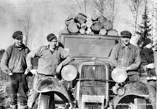 Photo: Lillebo 1938-40 timmertransport