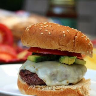 Juicy Bison Burgers.