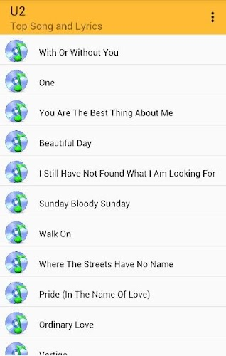 U2 Top Songs and Lyrics APK 1 0