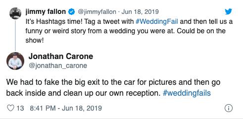 jimmy fallon hashtag tweet