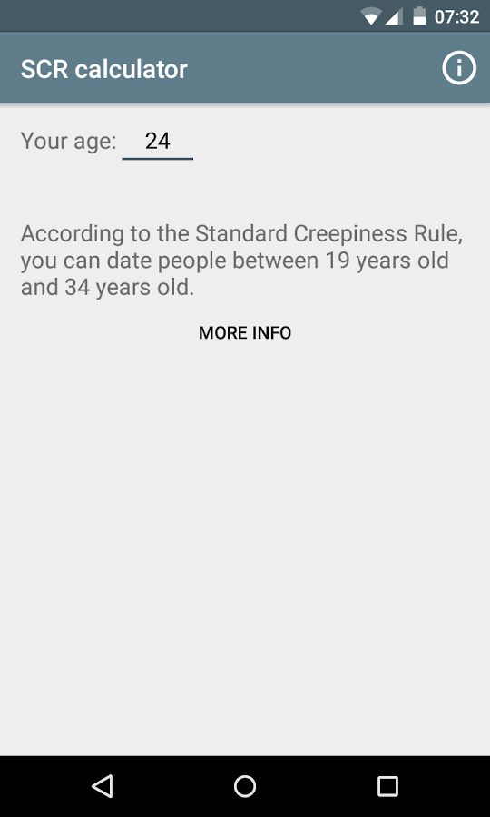 creepiness rule for dating Like the age of an 16 year old dating a 20 year old is a big age gap  i believe  in the standard creepiness rule (don't date anyone under.