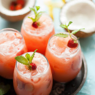 Strawberry Coconut Lemonade.