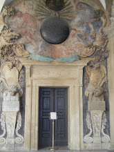 """Photo: Last day walk through the Archiginnasio of Bologna. Fantastic place, originally the main building of the University of Bologna (world's oldest university), now a library. Notice """"SPQB"""" (ala """"SPQR"""") engraved in the portal here. https://en.wikipedia.org/wiki/Archiginnasio_of_Bologna"""