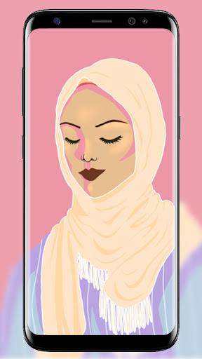 Hijab Wallpapers Muslimah cartoon