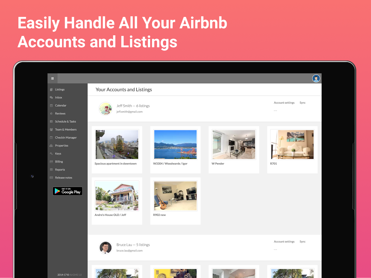 AirGMS Rental Property Manager- screenshot