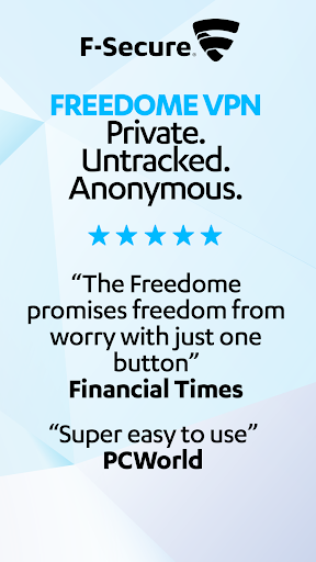FREEDOME VPN Unlimited anonymous Wifi Security 2.5.4.7708 screenshots 1
