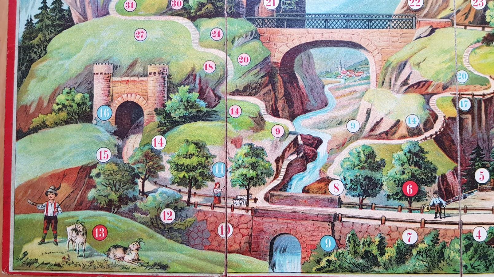 Wanderung zur Burg Drachenfels - Spiel aus dem Spielebuch 'Wer spielt mit?'