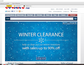 Photo: When we first arrived at the site, several screens were scrolling through, but I have to say this one is the most eye-catching for me! Up to 90% off! Yes, please! It's a great time to get things that will get us through the rest of the cold season {which around here goes until about April 1st!} and things we can use next winter too!