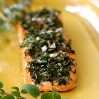 Baked Salmon with Herbs & Lemon.