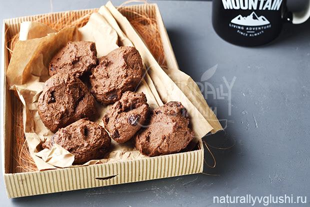 Шоколадное печенье на гречневой муке | Блог Naturally в глуши