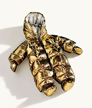 Photo: BURBERRY Gold metallic baby snowsuit in 6m, 9m, 12m and 18m. $350. Imported. Little BG. 212 872 2851