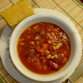 Slow Cooker Ham and Bean Soup.