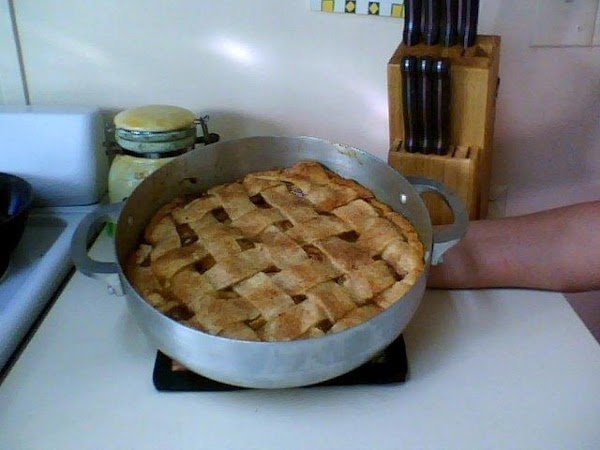 Bake another 15 min. and check your pie again. Check for juice reduction and...