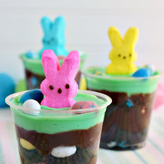 Easter Egg Hunt Pudding Cups