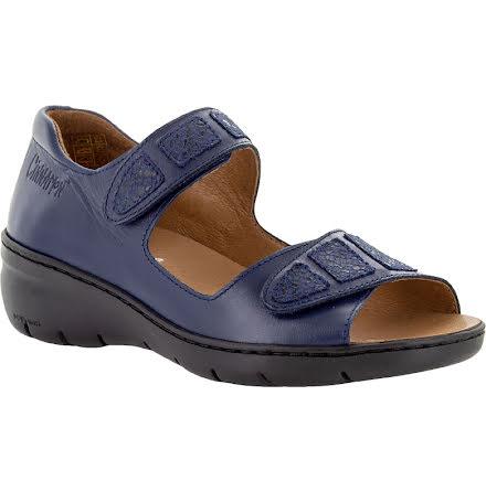 Birgit marinblå sandal med hälkappa och kardborre