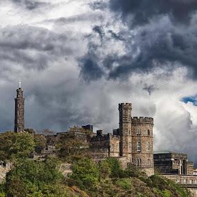 Nelson Monument, Edinburgh, Scotland, HDR by Morten Gustavsen - Buildings & Architecture Statues & Monuments ( edinburgh, 2012 )