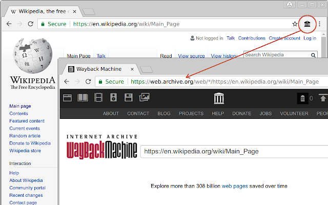 Wayback Machine Lookup