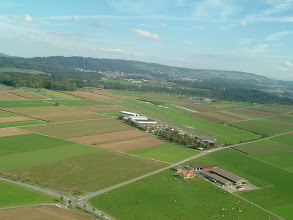 Photo: The runway and the aiport buildings in Birrfeld http://www.swiss-flight.net