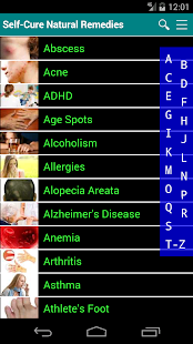 Self Cure home remedies for disease and illness- screenshot thumbnail