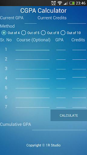 CGPA Calculator for Everyone