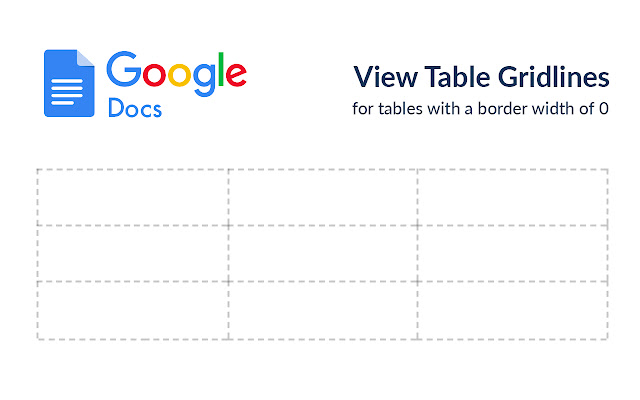 View Google Docs Gridlines