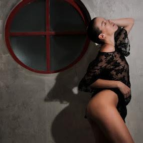 Fashionable by ObjeKtiva Artphoto - People Portraits of Women ( macao, fashion, boudoir, seethrough, czeckgirl, hk, oddplace, beauty, seminude, sensual, denisastrakova, glamour, sexy, shadow, stylish, macau, feminine, decay )