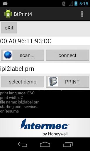 Bluetooth portable printing