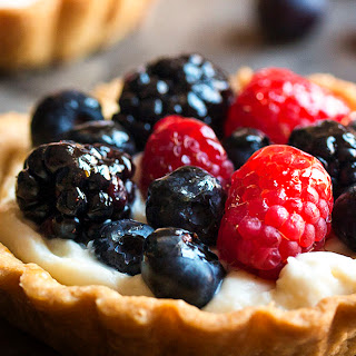 Mascarpone Fruit Tart with Mixed Berries.