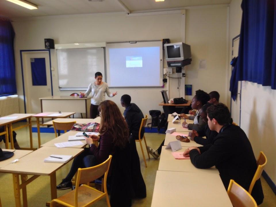 Intervention de Claude Terrosier au Lycée Maria Deraismes