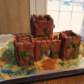 Medieval Gingerbread Castle Façade.