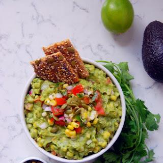 Chunky Sweet Corn Guacamole with Pepitas