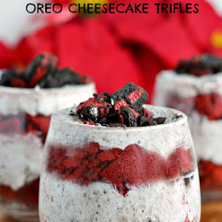 Red Velvet OREO Cheesecake Trifles Recipe for Christmas
