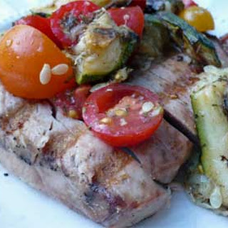 Grilled Tuna with Provencal Vegetables