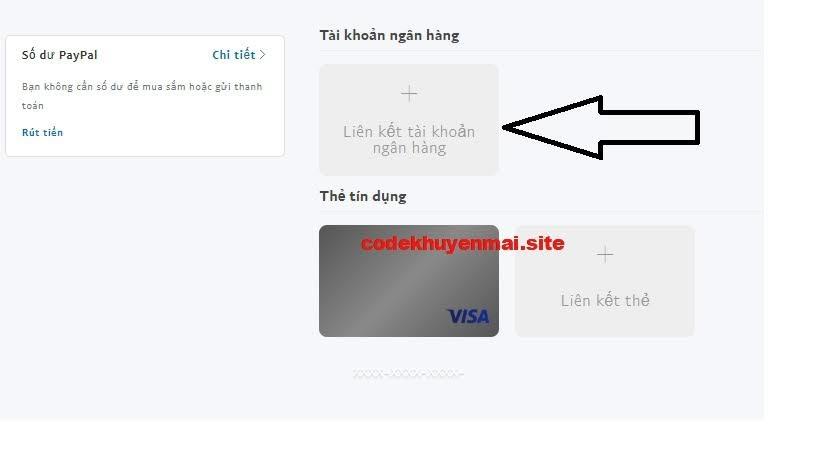 paypal liên kết ngân hàng