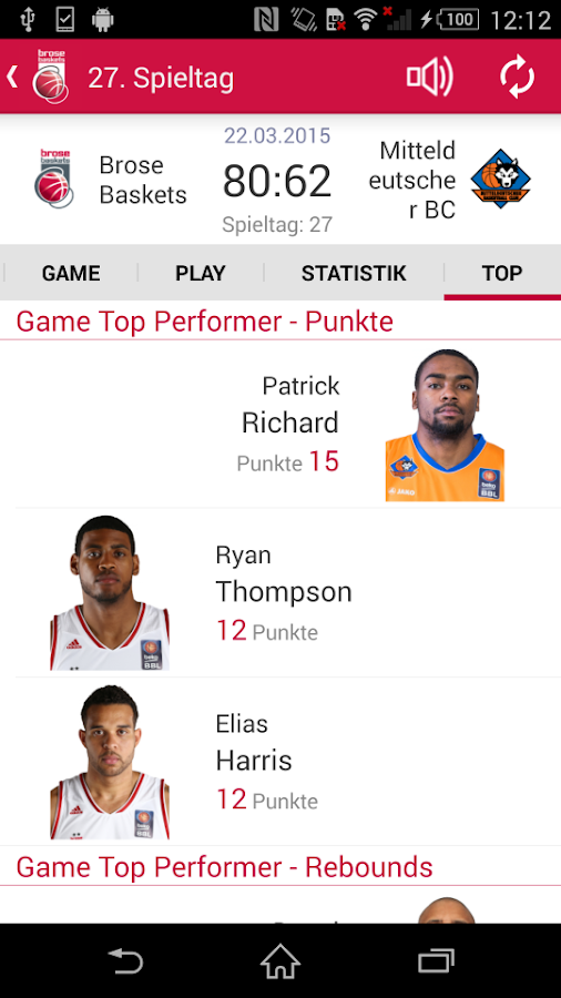 Brose Baskets- screenshot