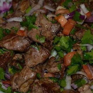 Warm Salad With Liver And Coriander