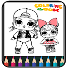 Coloring Book Dolls - Easy Drawing icon