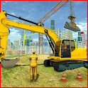 Heavy Construction Building: Truck Excavator Games icon