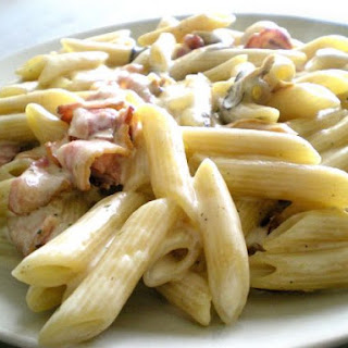 Pasta Penne With Mushroom And Bacon
